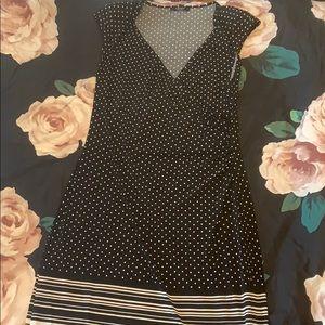 Polka dot and stripe dress